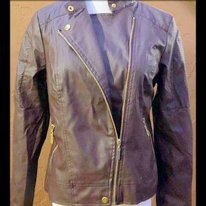 Vegan Leather Moto Jacket NWT